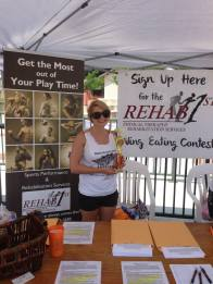Rehab 1st getting ready for the 2013 Wing Eating Contest Sign-Ups!
